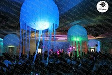 Custom Big inflatable hanging LED lighting jellyfish