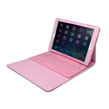 Standard 3.0 Bluetooth version Silicone bluetooth keyboard leather case cover for ipad air2