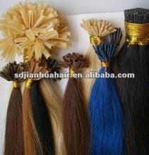 "Wholesale 100% Brazilian remy U/I/V-tip italian kerIatin glue Pre-bonded hair extensions 10""-26"""