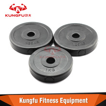 China sand filled plastic dumbbell weight plate