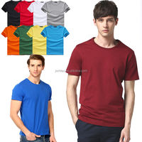 Quality Assured 100% combed cotton color plain blank collar t shirt