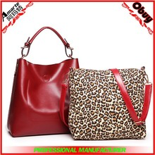 Wholesale price genuine leather ladies tote hand bag made in China