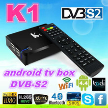 k1 s2 android stb Quad core android tv box kitkat 4.4 Amlogic S805 Quad core K1 DVB S2 2.4G wifi XBMC android tv box