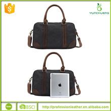 2015 Men Genuine Leather Vintage Style Travel Duffel Shoulder Bag