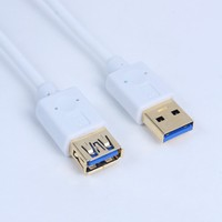 white color gold connector 1.8m and 3m Extension USB 3.0 Bridge Cable Hot Sale A Male to Female