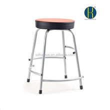 Soft seat laboratory chars with four levels footrest bar stools