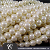 Round Shape Fake Pearl Strand Beads, Elegant Design Pearl Strand, High Quality Low Price Glass Pearls Strands Wholesale