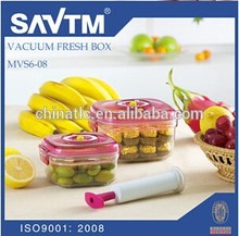 Transparent Plastic Airtight box , 0.67L/1.36L