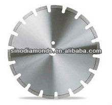 Durable U slots diamond saw blades for cutting asphalt and green concrete| laser welded diamond saw blades