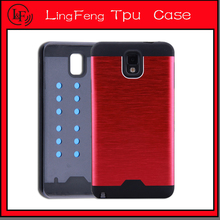 Superior tpu+alloy aluminum mobile phone case for Samsung note 3/note 4/E7/A7/J7/A8