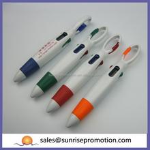 White plastic key chain pen