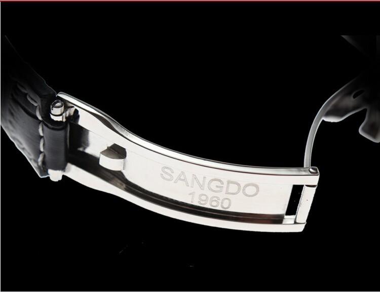 38 ММ SANGDO Сапфир зеркало Золотое покрытие Автоматический Self-ветер движения Высокое качество 2016 новая мода мужские часы