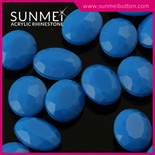 Eco Friendly Products Blue Oval Neon Rhinestone for Shoe Accessory