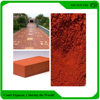 Red color powder coating ferric oxide color concrete pigment
