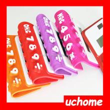 UCHOME Promotion Portable 8 Digit Foldable Pocket Calculator Silicone Solar Calculator With Custom Logo