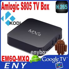 2014 Google Android 4.4 Amlogic S805 Cortex A5 Quad Core 1.5GHz 1GB RAM 8GB Android TV Box MXQ