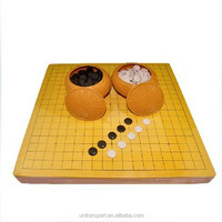 Double side Chinese chess& Go Game chess set wooden go game set