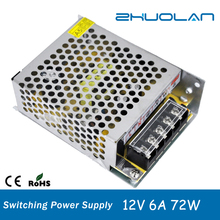 DC 12v 6a 72w shop online china wholesale led power supply module with metal box
