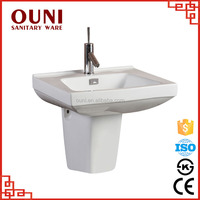 ON-138 China square solid surface half pedestal white surgical basin for wholesales