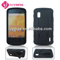 hotsell stand holster robot combo case for e960 nexus4
