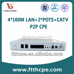 support RF port 4*1000M+2POTS FTTH,FTTx ONU point to point CPE
