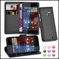 Wallet Leather Moblie Phone Case Cover for Motorola Moto X
