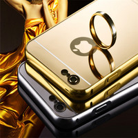 Acrylic Mirror Back Pannel Cellular Phones Case For iPhone 6s Case
