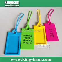 2015 Cheapest Promotion Item Soft Eco-Friendly FDA Tag Promotion Wholesale Silicone Luggage Tag