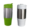 stainless steel outer plastic inner 450ml 16oz coffee thermos travel mug plastic thermo mug stainless steel coffee mug