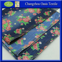 LZ3232-TK Color discharge print denim fabric