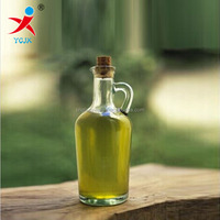 275ml glass oil bottle with handle and cork