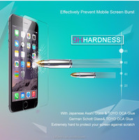 Wholesale mobile phone accessory for apple iphone 6 screen film, tempered glass screen film for iphone6/6 plus PH hardness 0.3mm