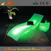 TGC plastic relax chair and LED illuminated furniture for outdoor furniture, hotel furniture