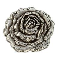 Antique Silver Rose Concho