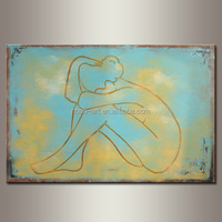 abstract nude woman canvas art wholesale oil beautiful paintings