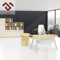 Modern L shaped Half Round Office Desk