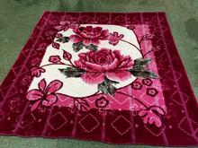 100% Polyester korean Style 1ply or 2 ply Embossed Raschel mink stock blanket