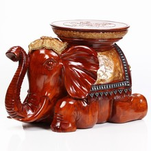 Indoor Resin Decorative Changing Shoes Elephant Stool
