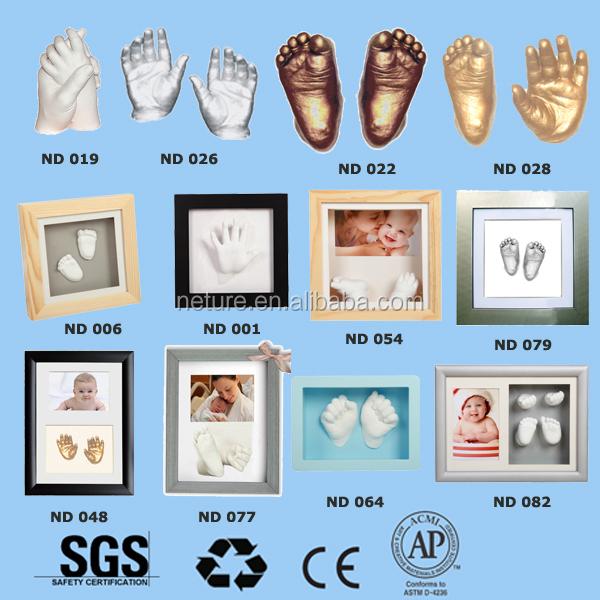 Creativo 3D de la mano del bebé arcilla marco de alta calidad caja ...