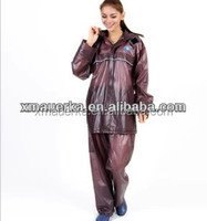 Promotion clear plastic pvc motorcycle rain suits for adult