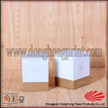 Small cardboard box with lid and custom logo for gift packaging product