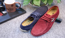 Wholesale latest style 2 colors suede leather shoes cheap men casual comfortable shoe