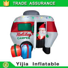 Lighted & Animated Christmas Inflatable Santa RV Camper scene