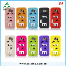 Wholesale price M beans soft silicon case cover for Samsung Galaxy S6 G9200 G920F, mobile phone case for Samsung Galaxy S6