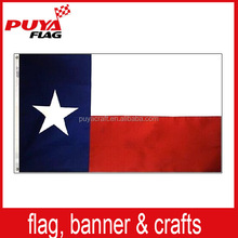 100% polyester printed state Texas flag,custom outdoor flying 3x5ft AmericanTexas state flag for government