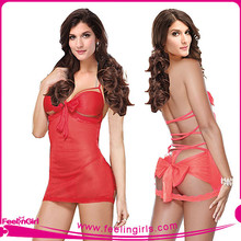 Charming Hot Babydoll With Bow Detail