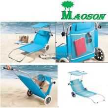 selling 2015 sold best aluminium beach bed with Wheel