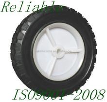 7 Inch Solid Rubber Plastic Wheelbarrow Wheels