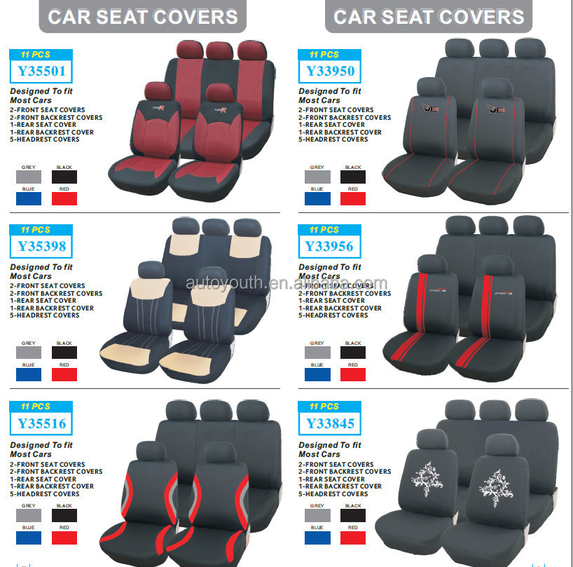 Clear Plastic Car Seat Covers Removable Fabric Car Seat