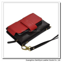 11068 Candy color wallet leather case for iphone4